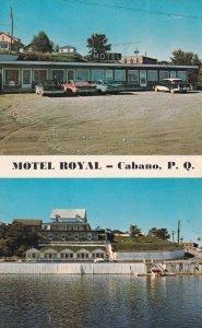 CABANO, Quebec, Canada, 1950-1960's; Motel Royal, Au Bord Du Lac Temiscouata