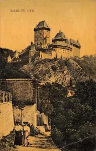 Karlstejn Czech Republic Karluv Tyn Castle Antique Postcard J72194
