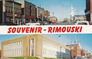 RIMOUSKI, La Rue St. Germasin avec la Cathedrale a l' arriete plan, Federal B...
