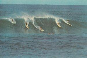 HAWAII, 1960-70s; Surfing in Hawaii