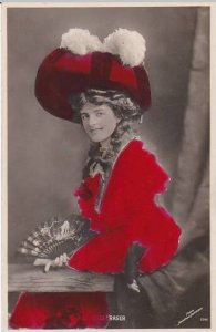 Miss Agnes Fraser Red Tinted Johnston & Hoffman Real Photo Berlin