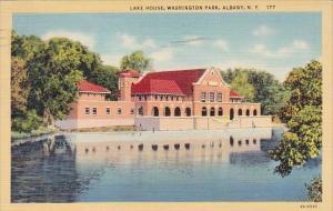New York Albany Lake House Washington Park