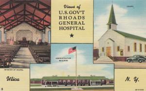 UTICA, New York, 30-40s; Views of U.S. Gov't Rhoads General Hospital