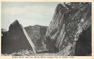 Salida Colorado Tablet Rock River Drive Antique Postcard K80926