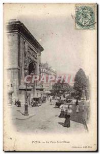 Paris Old Postcard La Porte Saint Denis
