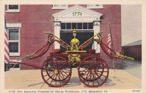 Virginia Alexandria Fire Apparatus Presented By George Washington 1774 Curteich