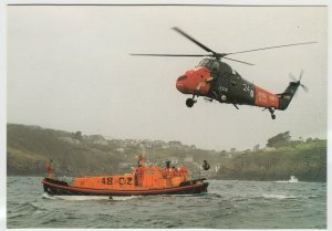Shipping; Lizard Cadgwith Lifeboat 48-02 & Wessex Helicopter 824 PPC