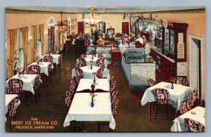 FREDERICK MD EBERT ICE CREAM COMPANY ADVERTISING VINTAGE POSTCARD