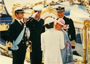 CPM Queen Margrethe en Queen Silvia of Sweden SWEDISH ROYALTY (845767)