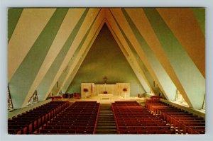 Las Vegas NV- Nevada, Catholic Church, Interior, Chrome Postcard