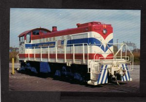 South Buffalo Railway Railroad Train Alco 52 #56 Postcard PC Bicentennial Colors
