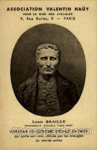Louis Braille Professeur Aveugle Famous People Postcard Post Card  Louis Brai...