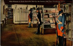 East Ticonderoga NY~Main Museum in South Barracks~Wax or Real Soldiers? 1940s PC
