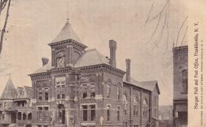 FRANKLINVILLE, New York, 1910s, Morgan Hall and Post Office