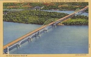 Maryland Perryville New Susquehanna River Bridge Between Havre De Grace And P...