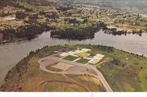 Aerial view of the beautiful Selkirk College,  Castlegar,   B.C.,  Canada,  4...