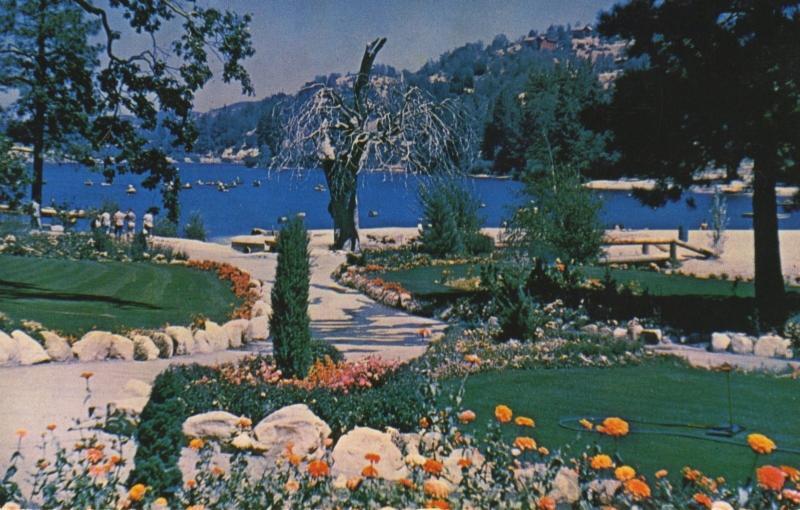 Club San Moritz - Lake Gregory, Crestline, California, CA.  Postcard