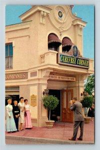 Disneyland, Carefree Corner, Family Photo, Clock, Chrome California Postcard