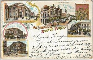 ARGENTINA -  Vintage Postcard - GRUSS AUS : BUENOS AIRES - AVENIDA CALLAO