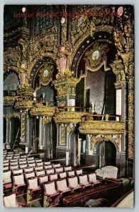 Boston Massachusetts~Majestic Theatre Interior~Seats~Gilded Boxes~1907 Postcard