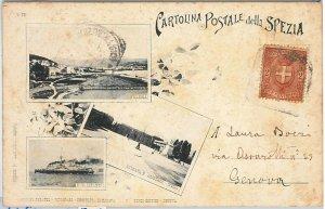 56188C -- CARTOLINA d'Epoca - LA SPEZIA città:  SALUTI - BELLA!
