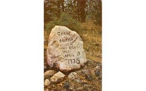 Grave of the British Soldiers Lexington, Massachusetts Postcard