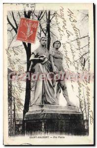 Postcard Old Saint Maixent Pro Patria