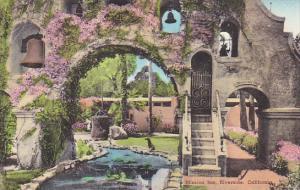 The Arch Mission Inn Riverside California Handcolored Albertype