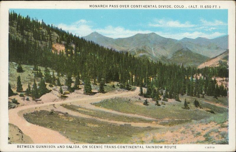 Monarch Pass over Continental Divide Colorado Rainbow Route