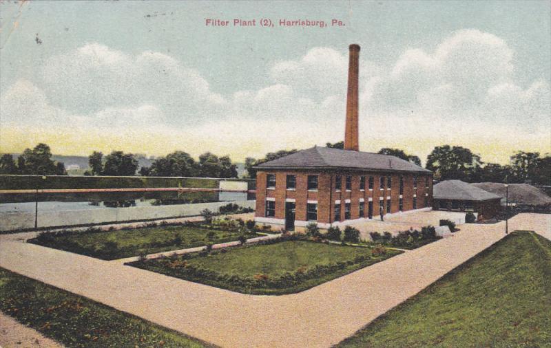 HARRISBURG, Pennyslyvania, PU-1912; Filter Plant