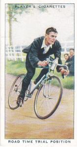 Cigarette Cards Players CYCLING  No 47 Road Time Trial Position