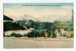 The Mummy Range Rocky Mountain Nat'l Park CO Vintage Postcard Standard View Card