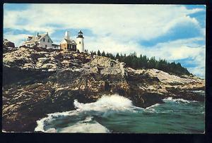 Beautiful Pemaquid, Maine/MEPostcard, Pemaquid Lighthouse/