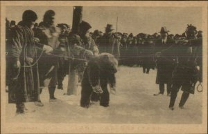 Japan Hokkaido Ainu ? c1910 Postcard #1 BEAR