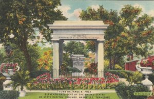 NASHVILLE, Tennessee, 1930-40s; Tomb of James K. Polk on Capitol Grounds, ver. 2