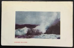 "Postcard Used Waves ""Surging Billows"" IA LB"
