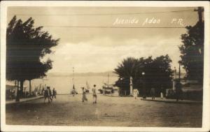 Avenida Adan San Juan Puerto Rico c1920 Real Photo Postcard