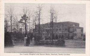 Lee County Hospital & Nurses Home , SANFORD , North Carolina , PU-1947