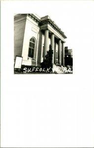 Vtg Postcard RPPC - Suffolk Virginia Post Office Building - Unused