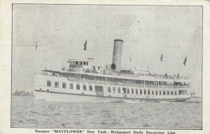 Steamer MAYFLOWER, 1938; Daily Excursion Line, New York - Bridgeport, CT