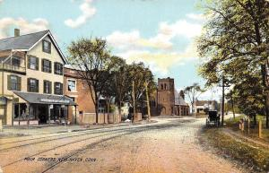 New Haven Connecticut~Four Corners~General Store~Bell Telephone~1908 Postcard