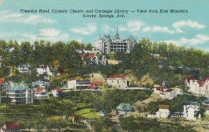 EUREKA SPRINGS, Arkansas,1948; Crescent Hotel, Catholic Church & Library