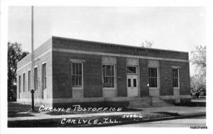 1940s Carlyle Illinois Post Office RPPC Real photo postcard 10482