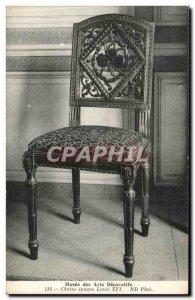 Old Postcard Musee des Arts Decoratifs epoch Louis XVI chair