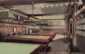 Oregon Portland Elks Club Billiard Parlor Pool Tables sk133