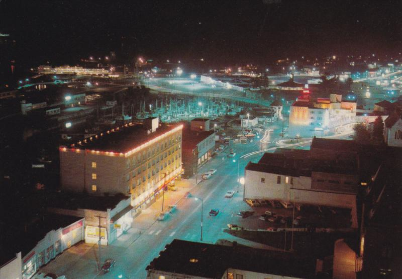 Night View, NANAIMO, British Columbia, Canada, 50-70's