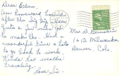 Cactus, Dil Rio, Texas 1945 used Real Photo, RPPC Postcard