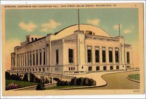 Auditorium & Convention Hall, Philadelphia PA