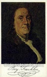 Ben Franklin Famous People Old Vintage Antique,  Postcard Post Card  Ben Fran...