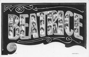 Big Letters Name Greetings! Beatrice Fashion Elegant Ladies Women, Rotary